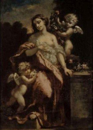 Femme et deux amours   Narcisse Dìaz de la Peña   Oil Painting