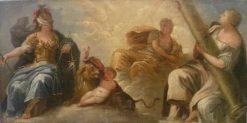 The Three Virtues   Pier Francesco Mola   Oil Painting
