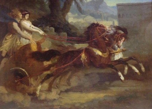 Ancient Chariot (after a lithograph by Carle Vernet) | ThEodore GEricault | Oil Painting