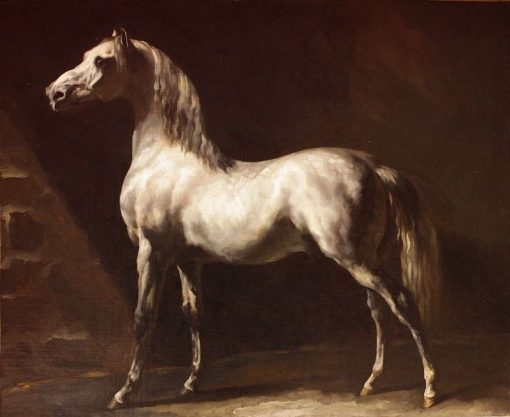 Grey Horse or Study of a White Horse(also known as Cheval gris or Etude de cheval blanc) | ThEodore GEricault | Oil Painting