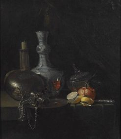 Still Life with Silver Flask | Willem Kalf | Oil Painting