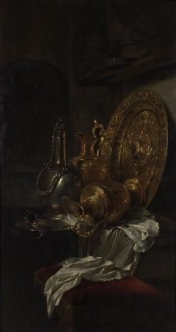 Still Life with Gilt Vase and Plates | Willem Kalf | Oil Painting