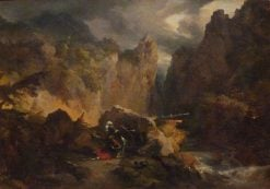 Landscape with the Death of Roland | Achille Etna Michallon | Oil Painting