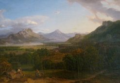 Landscape in Bavaria | Carl Rottmann | Oil Painting