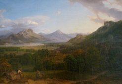 Landscape in Bavaria | Carl Rottmann | Oil Painting