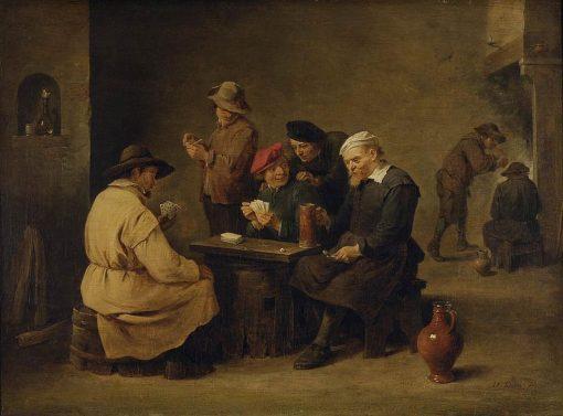 Card Players   David Teniers II   Oil Painting
