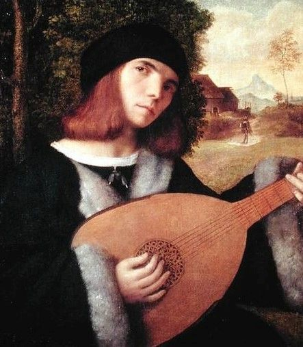 A Lute Player | Giovanni Cariani | Oil Painting