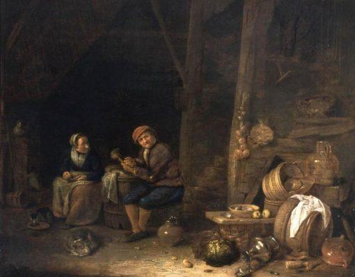 Kitchen Interior   Hendrik Martensz. Sorgh   Oil Painting