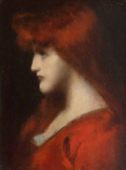 Portrait of a Young Redheaded Woman | Jean Jacques Henner | Oil Painting
