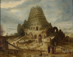 The Tower of Babel   Lucas van Valckenborch   Oil Painting