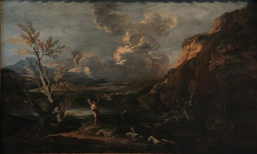 Landscape with Tobit and the Angel | Salvator Rosa | Oil Painting