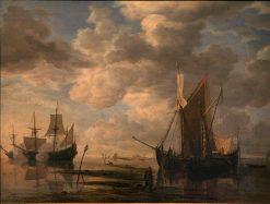 Low Tide | Simon de Vlieger | Oil Painting