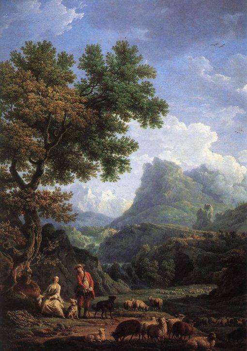 Shepherd in the Alps | Claude Joseph Vernet | Oil Painting