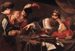 Croesus Receiving Tribute from a Lydian Peasant   Claude Vignon   Oil Painting