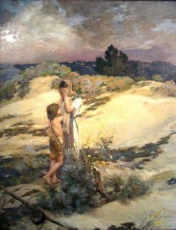 Hagar and Ishmael   Jean Charles Cazin   Oil Painting