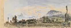 La montagne bleue | Johan Barthold Jongkind | Oil Painting
