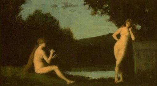 Nymphes a la source   Jean Jacques Henner   Oil Painting