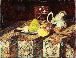 Still-Life with White Water Jug | Adolphe Joseph Thomas Monticelli | Oil Painting