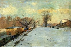 Road on the Banks of the Seine at Neuilly in Winter | Albert Lebourg | Oil Painting