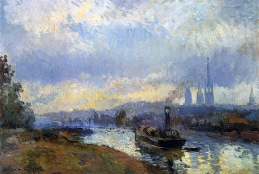 Barges at Rouen | Albert Lebourg | Oil Painting