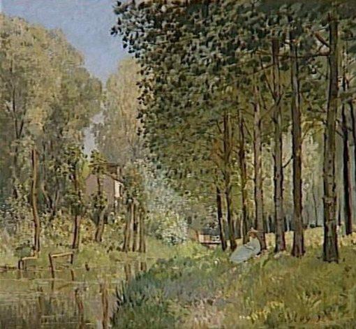 Le repos au bord du Ruisseau | Alfred Sisley | Oil Painting