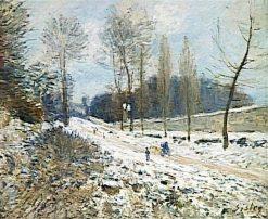 La côte du Coeur-volant a Marly sous la neige | Alfred Sisley | Oil Painting