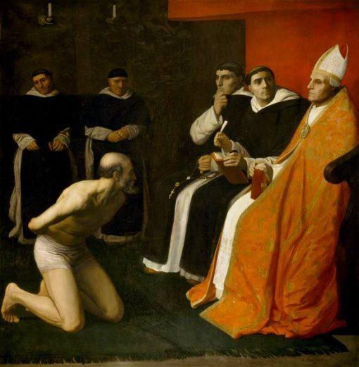 The Honourable Penitent | Alphonse Legros | Oil Painting