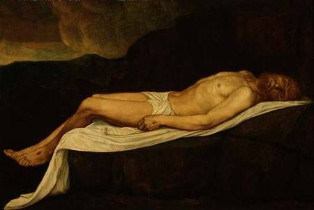 The Dead Christ | Alphonse Legros | Oil Painting