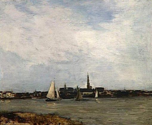 View of Anvers   Antoine Vollon   Oil Painting