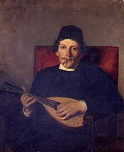 Poet with Mandolin | Charles Auguste Emile Durand | Oil Painting