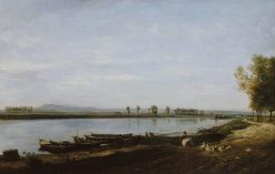 La Seine a Bezons | Charles Francois Daubigny | Oil Painting