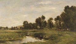 La vallée d'Arques | Charles Francois Daubigny | Oil Painting
