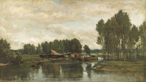 Boats on the Seine | Charles Francois Daubigny | Oil Painting
