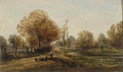 La guardeuse des dindons | Charles Francois Daubigny | Oil Painting