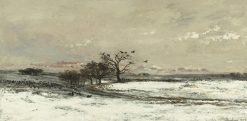 La neige (Snow) | Charles Francois Daubigny | Oil Painting