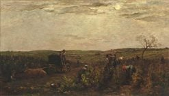 Les vendanges en Bourgogne (Vineyards in Burgundy) | Charles Francois Daubigny | Oil Painting