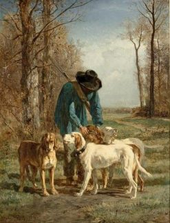 Gamekeeper and His Dogs | Constant Troyon | Oil Painting