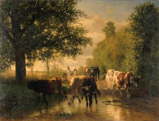Crossing a Ford | Constant Troyon | Oil Painting