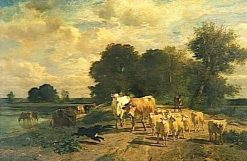 Return to the Farm | Constant Troyon | Oil Painting