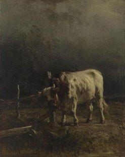 Le taureau: Effet d'orage (Bull in a Storm) | Constant Troyon | Oil Painting