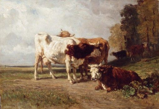Vaches au repos (Cows Resting) | Constant Troyon | Oil Painting