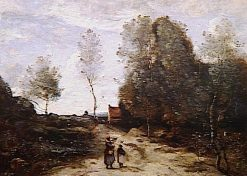 La route | Jean Baptiste Camille Corot | Oil Painting
