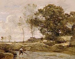 Raising of the Nets | Jean Baptiste Camille Corot | Oil Painting