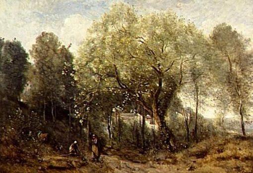 Le catalpa: Souvenir de Ville d'Avray | Jean Baptiste Camille Corot | Oil Painting