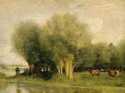 Waterside Willows | Jean Baptiste Camille Corot | Oil Painting