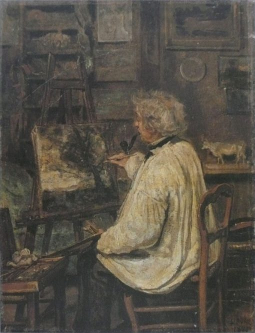 Corot Painting in the Studio of his Friend