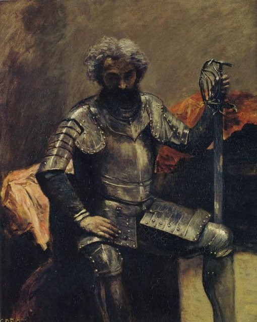 Man in Armour | Jean Baptiste Camille Corot | Oil Painting