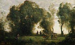 La danse des nymphes | Jean Baptiste Camille Corot | Oil Painting
