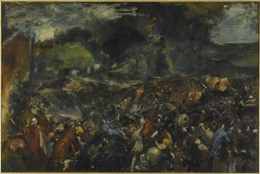 Battle between General Berezowski and Tsar Alexander II (6 June 1867) | Jean Baptiste Carpeaux | Oil Painting