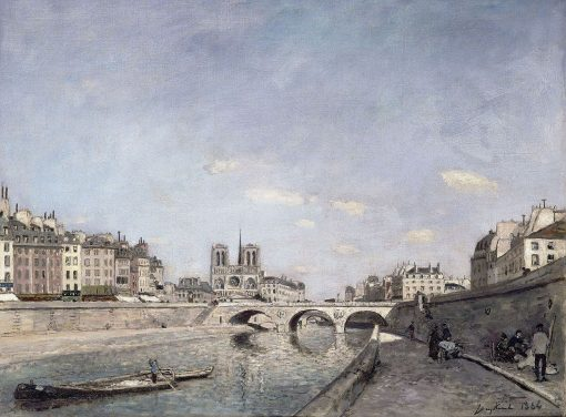The Seine and Notre-Dame in Paris | Johan Barthold Jongkind | Oil Painting